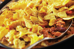 Chilli Con Carne Finished with Spicy Salsa Sprinkle