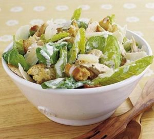 Chicken Caesar Salad with Black Pepper Croutons